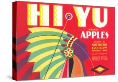 Hi Yu Apples Crate Label--Stretched Canvas Print