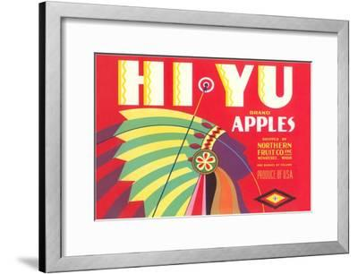 Hi Yu Apples Crate Label--Framed Art Print
