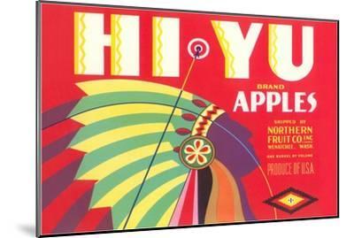 Hi Yu Apples Crate Label--Mounted Art Print