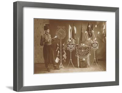 Magician with Props--Framed Art Print