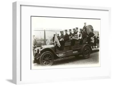 Band in Old Car--Framed Art Print
