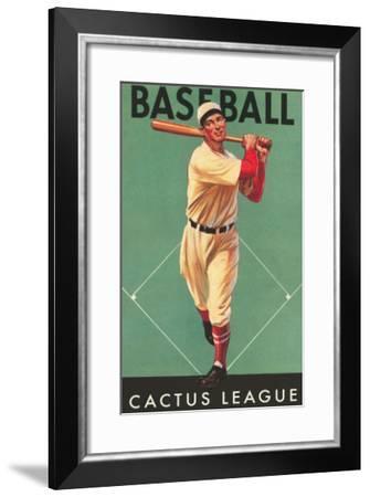 Cactus League Baseball, Arizona--Framed Art Print
