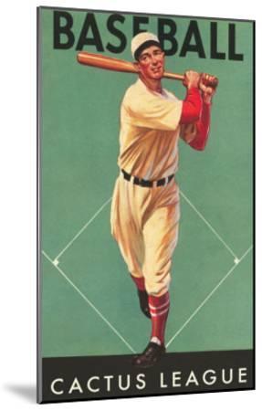 Cactus League Baseball, Arizona--Mounted Art Print