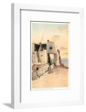 Walpi, Hopiland Pueblo, Arizona--Framed Art Print