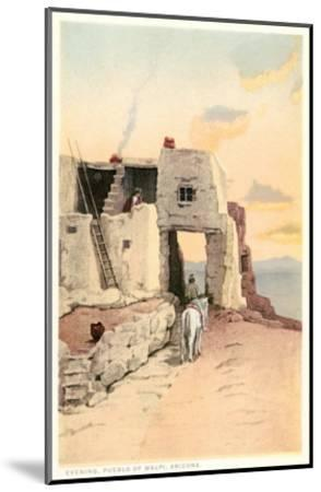 Walpi, Hopiland Pueblo, Arizona--Mounted Art Print