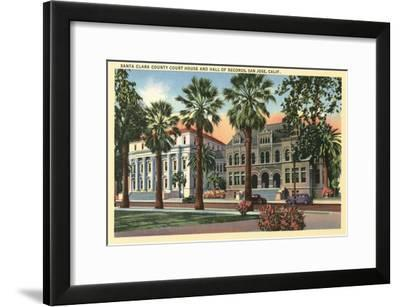 Santa Clara County Court House, San Jose, California--Framed Art Print