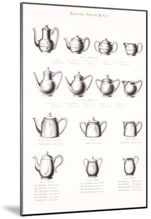 Tea Pot Selection--Mounted Art Print