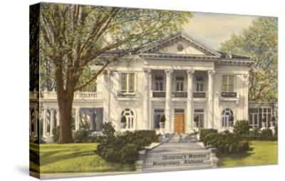 Governor's Mansion, Montgomery, Alabama--Stretched Canvas Print
