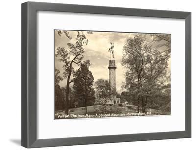 Vulcan Statue, Birmingham, Alabama--Framed Art Print