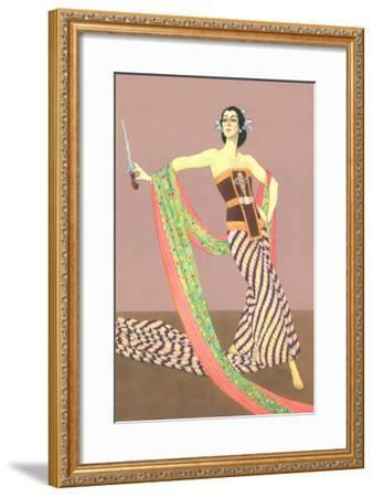 Dancer with Shawl and Knife--Framed Art Print