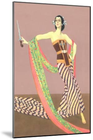 Dancer with Shawl and Knife--Mounted Art Print