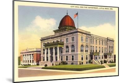 City Hall, Little Rock, Arkansas--Mounted Art Print