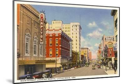 Main Street, Little Rock--Mounted Art Print