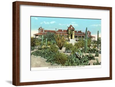 University of Arizona at Tucson, Cactus Garden--Framed Art Print