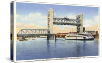 Tower Bridge, Sacramento, California--Stretched Canvas Print