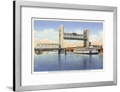 Tower Bridge, Sacramento, California--Framed Art Print