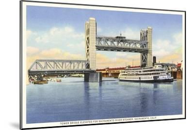 Tower Bridge, Sacramento, California--Mounted Art Print