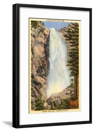 Bridal Veil Falls, Yosemite, California--Framed Art Print