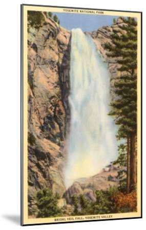Bridal Veil Falls, Yosemite, California--Mounted Art Print
