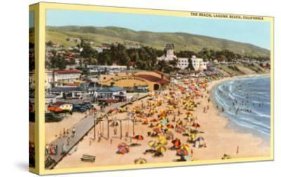 Beach, Laguna Beach, California--Stretched Canvas Print