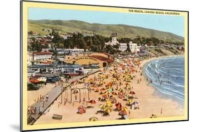 Beach, Laguna Beach, California--Mounted Art Print