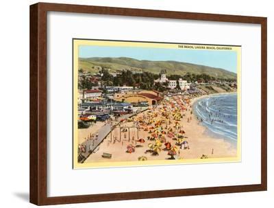 Beach, Laguna Beach, California--Framed Art Print