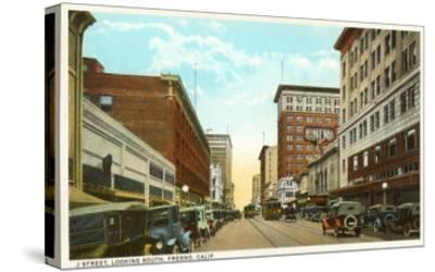 Downtown Fresno, California--Stretched Canvas Print