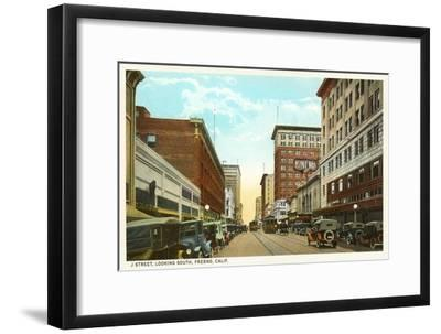Downtown Fresno, California--Framed Art Print