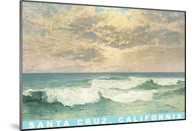 Waves under Mottled Sky, Santa Cruz, California--Mounted Art Print