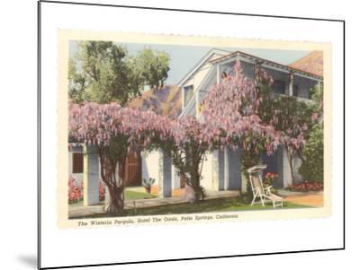 Wisteria Pergola, the Oasis, Palm Springs, California--Mounted Art Print