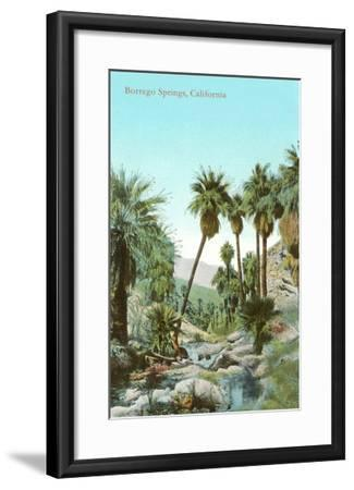 Oasis Near Borrego Springs, California--Framed Art Print