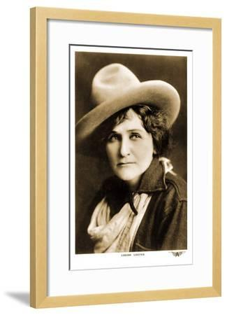 Louise Lester, Cowgirl--Framed Art Print