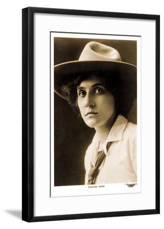Pauline Bush, Cowgirl--Framed Art Print