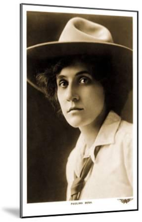 Pauline Bush, Cowgirl--Mounted Art Print