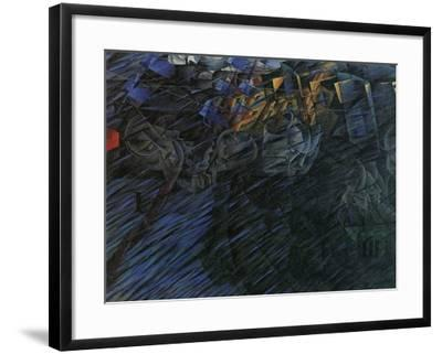 Stage of Mind: Those Who Go-Umberto Boccioni-Framed Giclee Print