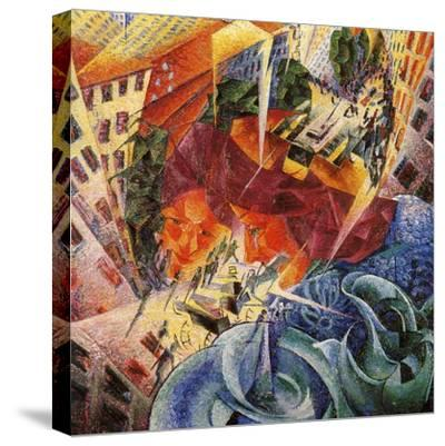 Simultaneous Visions-Umberto Boccioni-Stretched Canvas Print