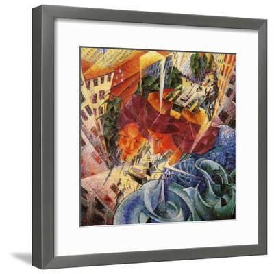 Simultaneous Visions-Umberto Boccioni-Framed Giclee Print