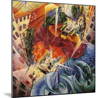 Simultaneous Visions-Umberto Boccioni-Mounted Giclee Print