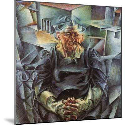 Holizonatal Volumes-Umberto Boccioni-Mounted Giclee Print