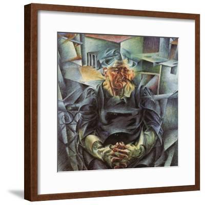 Holizonatal Volumes-Umberto Boccioni-Framed Giclee Print
