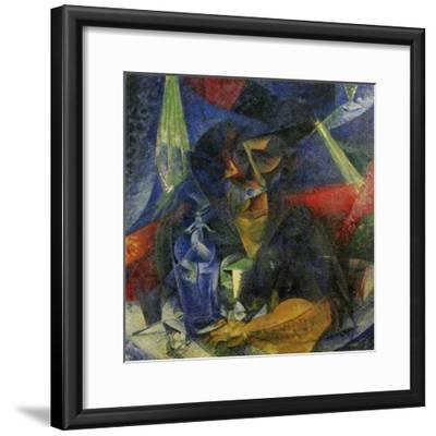 Woman in a Cafe: Compentrations of Lights and Planes-Umberto Boccioni-Framed Giclee Print