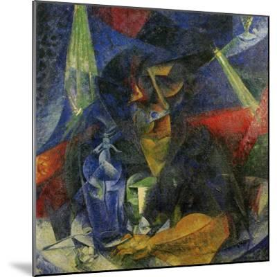 Woman in a Cafe: Compentrations of Lights and Planes-Umberto Boccioni-Mounted Giclee Print