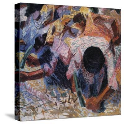 The Street Pavers-Umberto Boccioni-Stretched Canvas Print