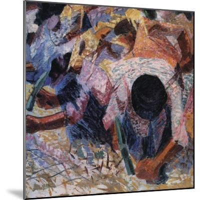The Street Pavers-Umberto Boccioni-Mounted Giclee Print