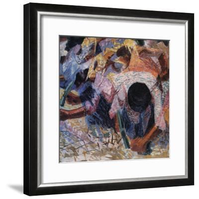 The Street Pavers-Umberto Boccioni-Framed Giclee Print