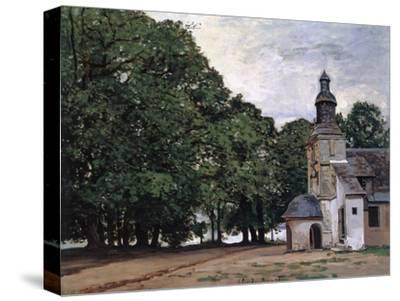 La Chapelle De Notre-Dame De Grace, Honfleur-Claude Monet-Stretched Canvas Print