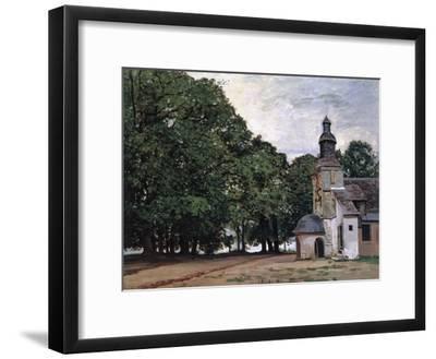 La Chapelle De Notre-Dame De Grace, Honfleur-Claude Monet-Framed Giclee Print