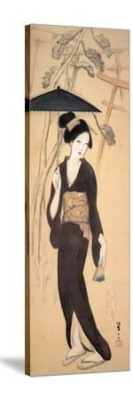 Visiting the Shrine at Inariyama, Japan-Yumeji Takehisa-Stretched Canvas Print
