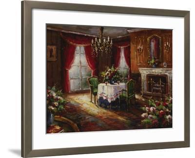 Fireside Supper-Foxwell-Framed Premium Giclee Print