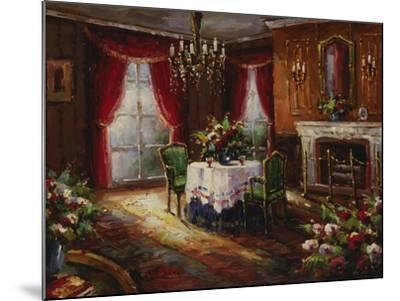 Fireside Supper-Foxwell-Mounted Premium Giclee Print